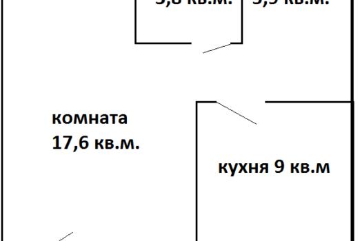 1-комнатная кв. на ул. 50 лет ВЛКСМ